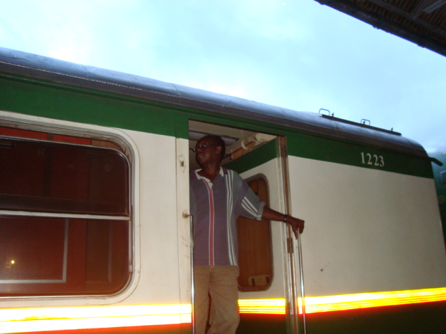 All aboard! Aweis on the Rift Valley Train going to Mombasa