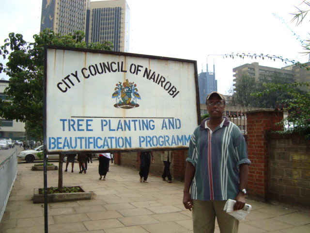 Aweis Issa at City Council of Nairobi Beautification Park