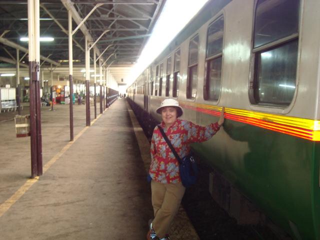 Nairobi train station platform